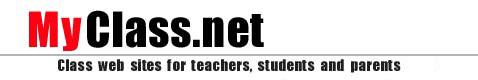 MyClass.net class web sites for teachers, students, and parents